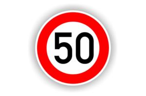 اشارة السرعة 50