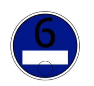 الشارة الزرقاء اورو 6