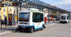 الحافلة الكهربائية ذاتية القيادة في مونهايم Monheim