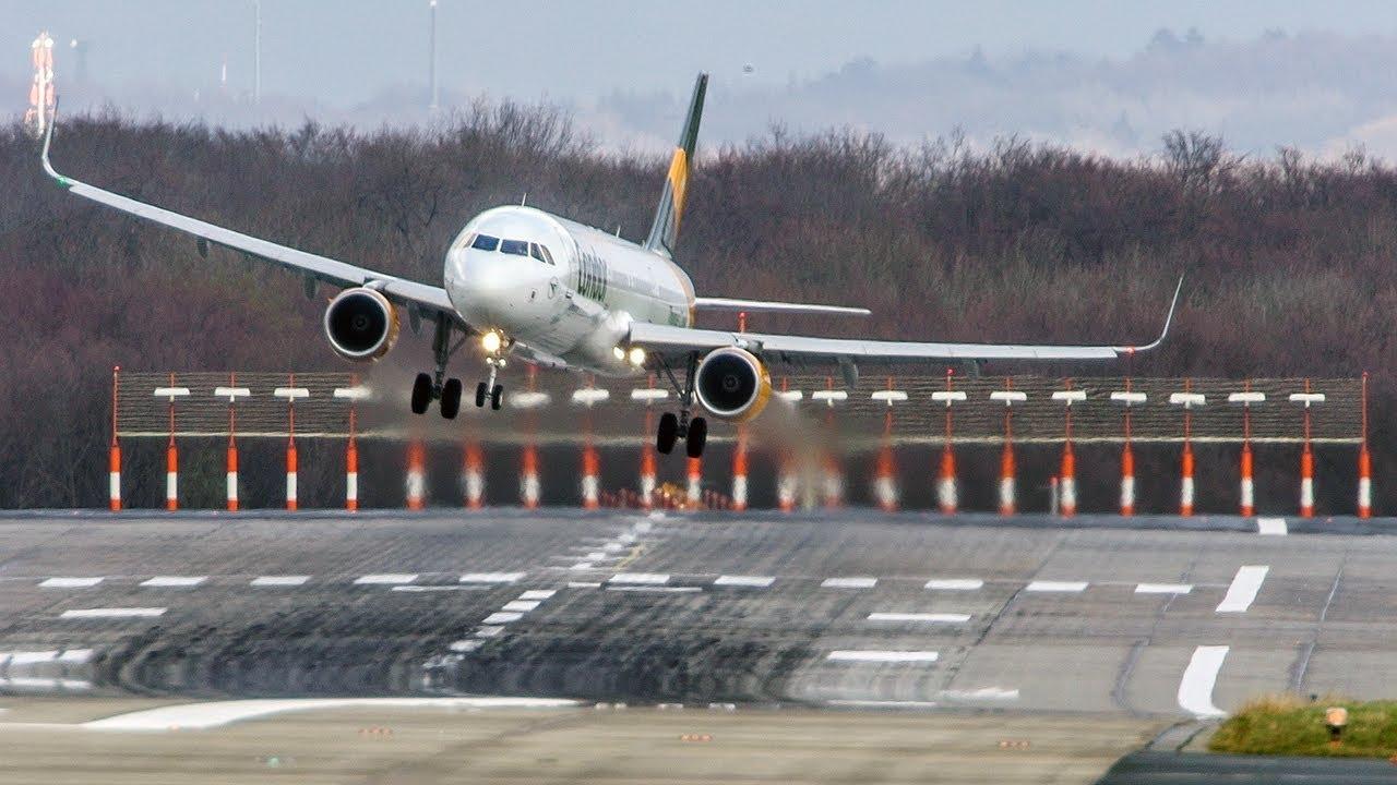 """العاصفة """"سابين"""" وإلغاء 100عملية إقلاع وهبوط للطائرات في مطار فرانكفورت"""