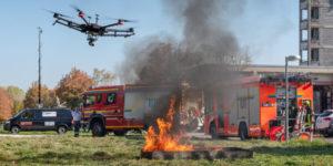 طائرة بدون طيار تشارك في إخماد حريق ورشة تصليح السيارات في ماين كوبلنز