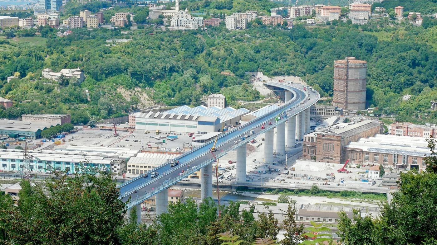 افتتاح جسر موراندي الجديد في (جنوة) إيطاليا