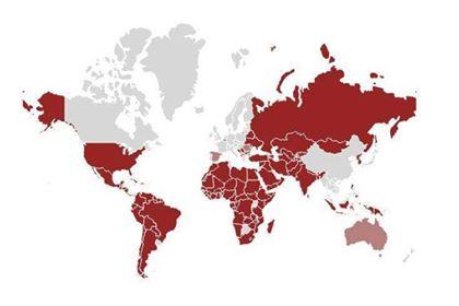 جديد معلومات الحدود و مناطق الخطر الدولية