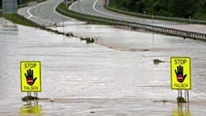 إغلاق الطريق السريع A8 (سالزبورغ – ميونخ) بسبب الفيضانات