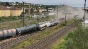 خروج قطار شحن عن مساره بالقرب من كوبلنز