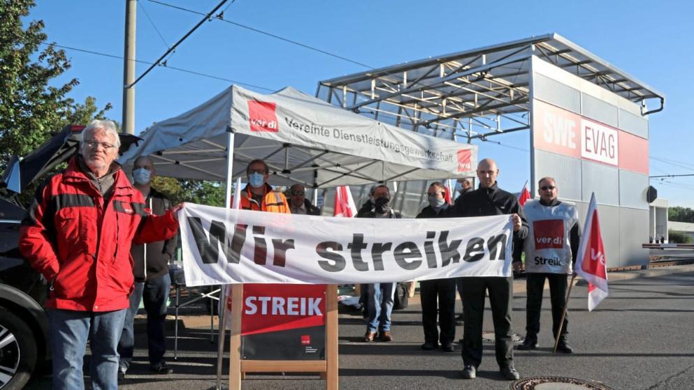إضراب الحافلات والقطارات  في ألمانيا للمرة الثانية