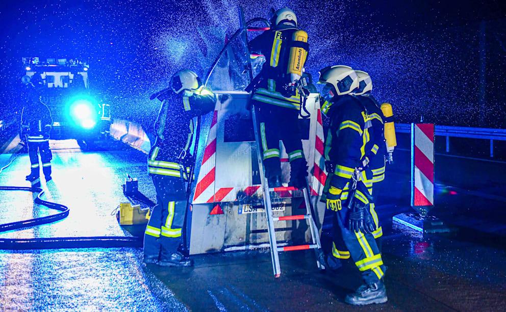 ساكسونيا : حريق متعمد لكاميرا التقاط السرعة على الطريق A 14