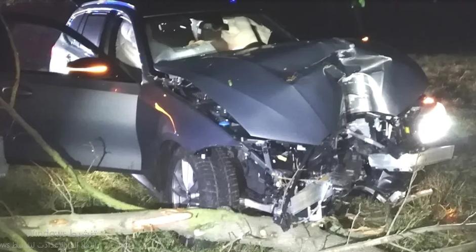 ساكسونيا:نهاية مطاردة سيارة BMW مسروقة بحادث