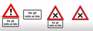 قاعدة اليمين قبل اليسار Rechts vor Links