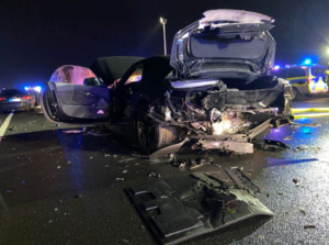 7جرحى نتيجة تصادم جماعي ل6 سيارات