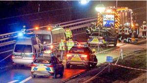 وفاة شرطي أثناء تسجيل حادثعلى A6