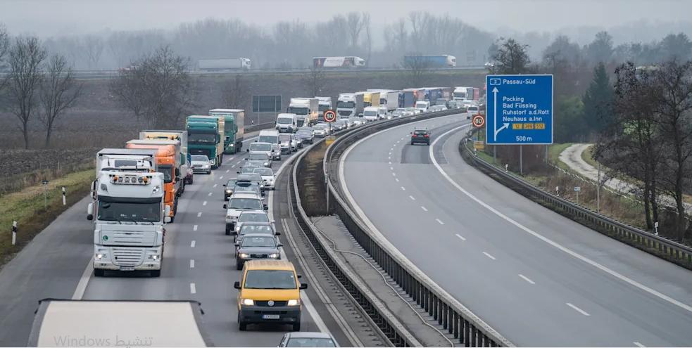 ازدحام مروري مسافة17 كم على A3-حدود النمسا