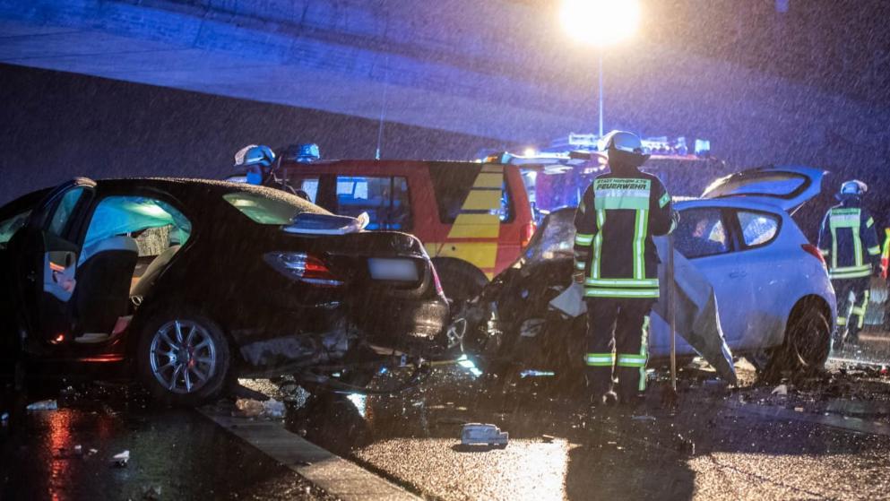 وفاة السائق في حادث بالاتجاه المعاكس على A66