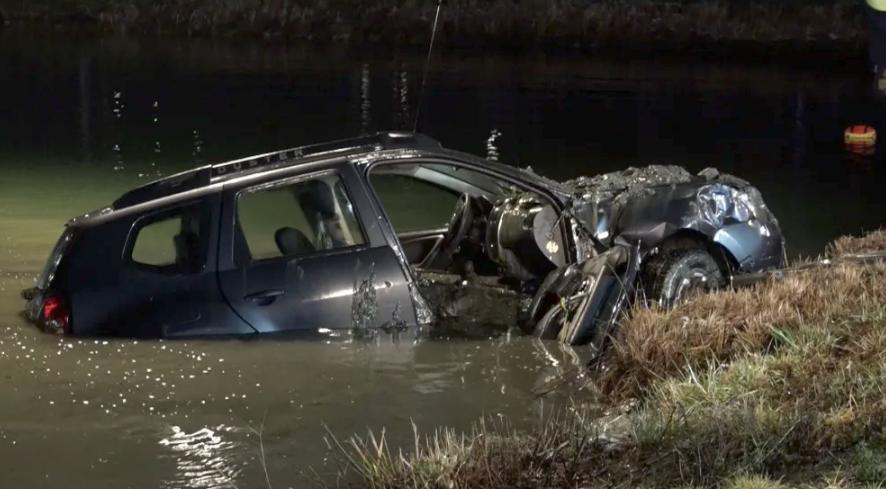 (NRW) غرق سيارة وموت سائقها