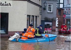 فيضانات في جنوب ألمانيا