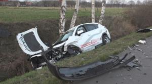حادث أثناء درس القيادة