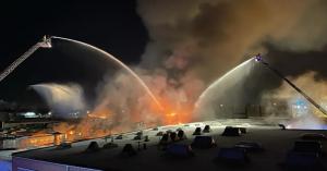 حريق كبير جنوب العاصمة برلين