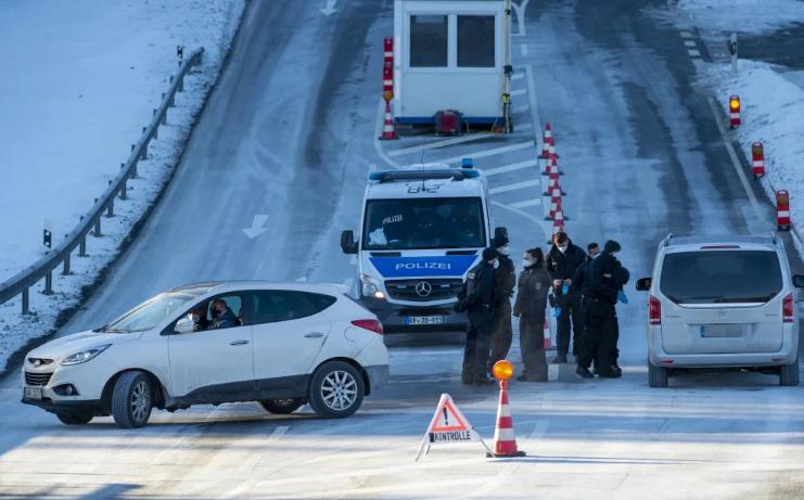 إبعاد 10000 شخص عند حدود ألمانيا وحظر دخول الأجانب من مناطق متغير فيروس كورونا