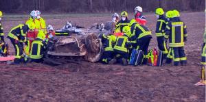 انفجار إطار سيارة على الطريق السريع A40