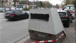 هامبورغ – طلاء أسود على كاميرات السرعة